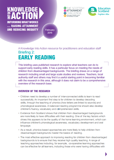 Early Reading Briefing